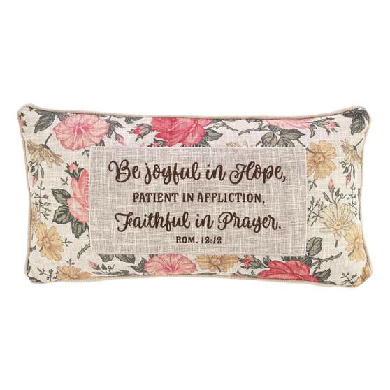 Be Joyful In Hope Rectangular Pillow - Romans 12:12