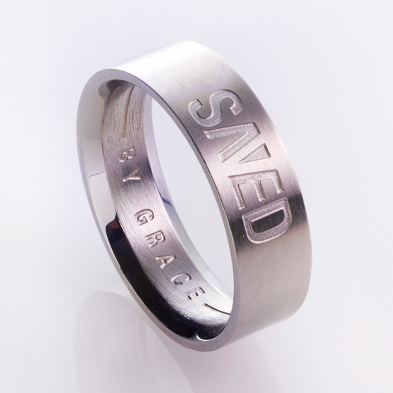 Saved by Grace - Ephesians 2:8 Men's Ring