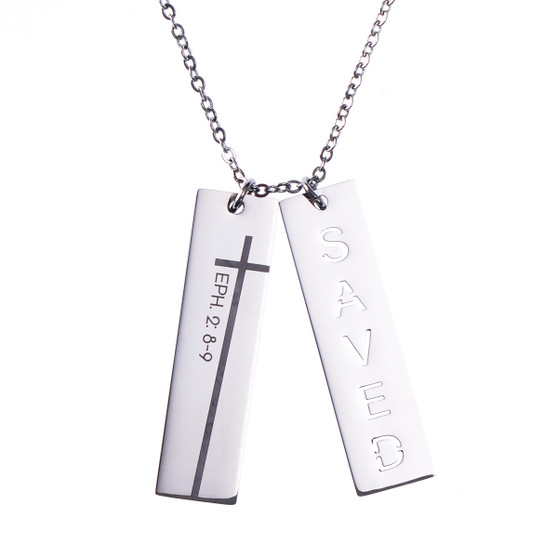 Saved Double Bar Necklace