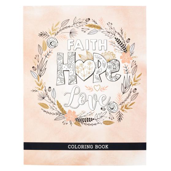 Faith Hope Love Coloring Book