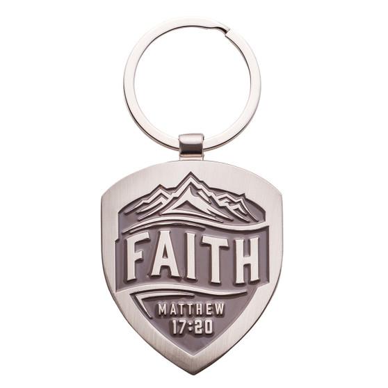 Faith - Matthew 17:20 Metal Keyring