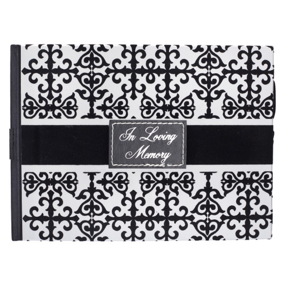 Black & White In Loving Memory Guest Book