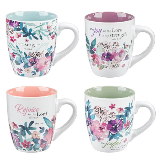 Rejoice Collection Four Piece Coffee Mug Set