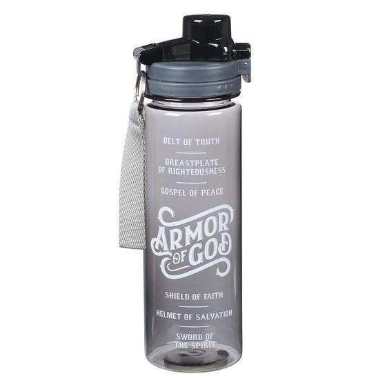 Armor of God Plastic Water Bottle in Black - Ephesians 6:10 - 18