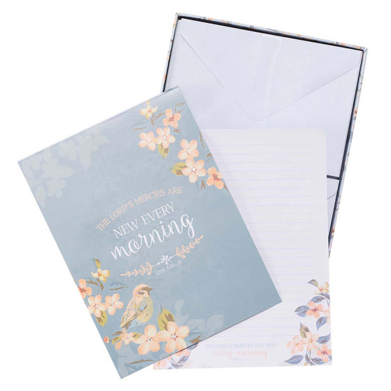 The Lord's Mercies are New Writing Paper and Envelope Set - Lamentations 3:22-23