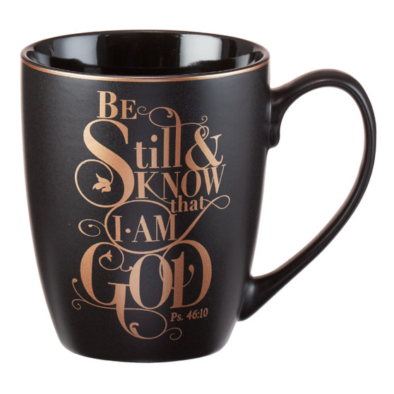 Be Still Shimmer Coffee Mug - Psalm 46:10