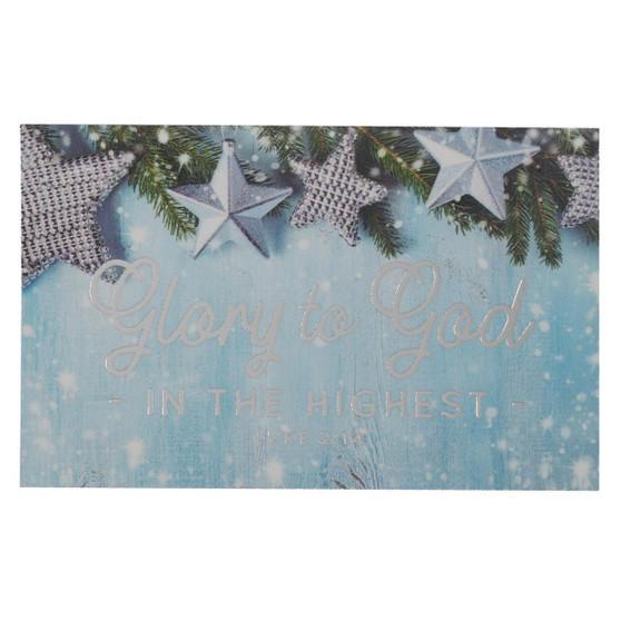 Glory to God Christmas Pass Around Cards - Luke 2:14