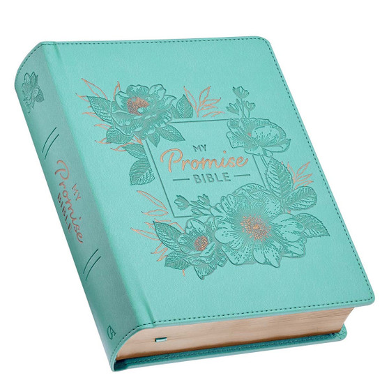 Teal Faux Leather Hardcover KJV My Promise Bible