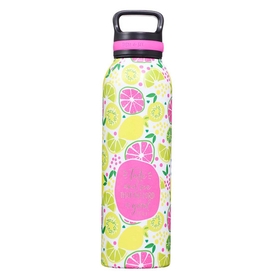 Taste and See Stainless Steel Water Bottle - Psalm 34:8