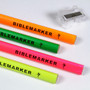4 Piece Assorted Colors Jumbo Dry Highlighter Bible Markers with Sharpener