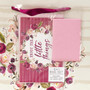 Enjoy The Little Things Large Gift Bag Set in Berry Hues with Card and Tissue Paper