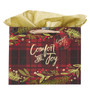 Comfort and Joy Large Christmas Gift Bag with Tissue Paper