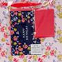 Happy Birthday Pink Flower Trellis Large Landscape Gift Bag Set with Card