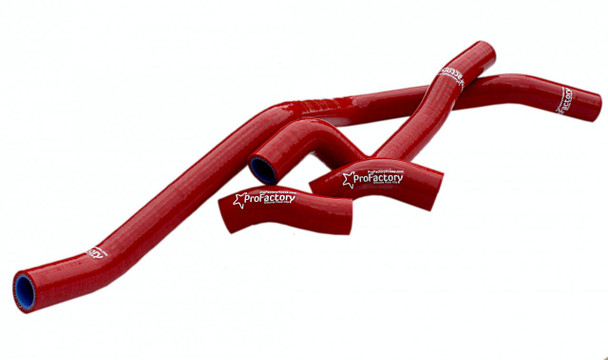 Raptor 660 Hi-Flow Silicone Radiator Hoses Kit Red