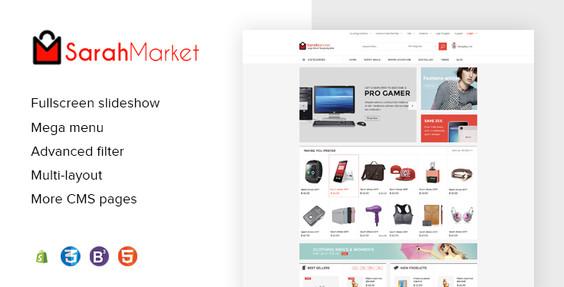 SarahMarket - Large Store Grocery BigCommerce Theme