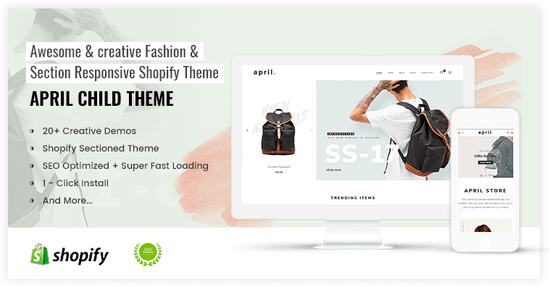 Classic Shopify theme for backpack store online - preview
