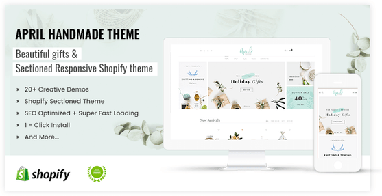 Shopify lovely theme for handmade gift store - preview