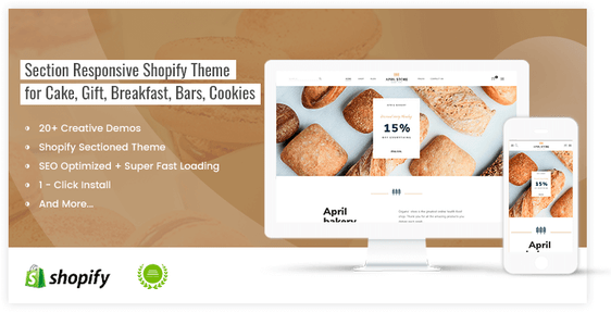 Beautiful shopify theme for food blog and bakery store - preview