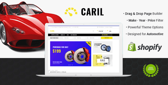 CARIL - Automotive Shopify Theme for Cars & Auto Parts Warehouse