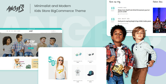 Angels-Kids - BigCommerce Theme for Baby & Kid Stores Preview