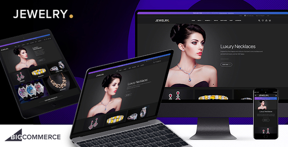 Livia Jewelry - BigCommerce dark theme for jewelry stores