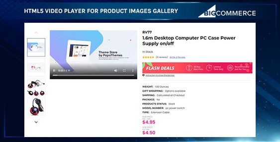 BigCommerce HTML5 Video Gallery for Product Page
