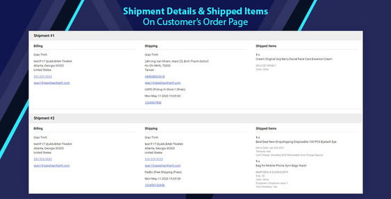 BigCommerce Display Shipment Details and Tracking