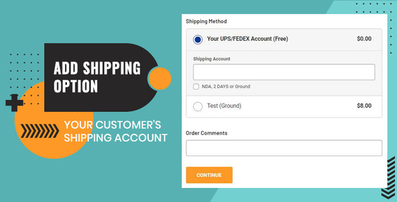 Add Customer Own Shipping Account Option for BigCommerce