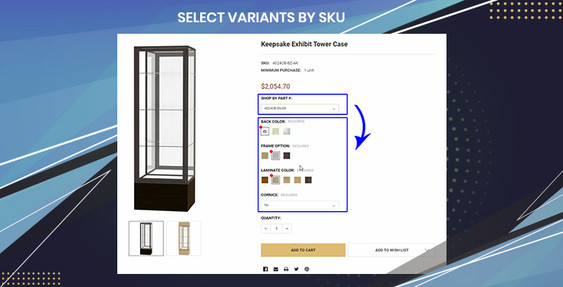 BigCommerce Select Variants or Options by SKU