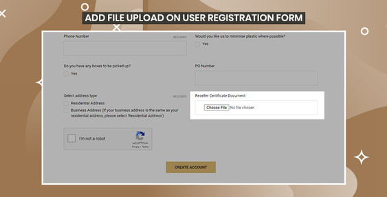 BigCommerce Add File Upload custom field to User Registration Page