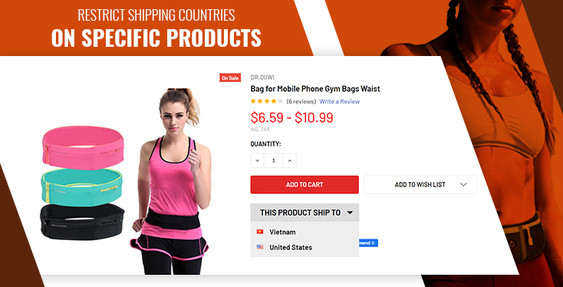 BigCommerce Restrict Shipping Countries on Specific Products