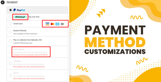 BigCommerce Payment Method Customizations
