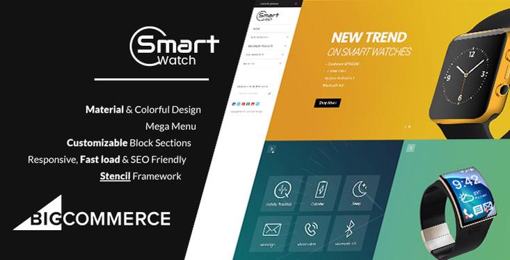 Materient Smart Watches Responsive BigCommerce Theme - Stencil Framework