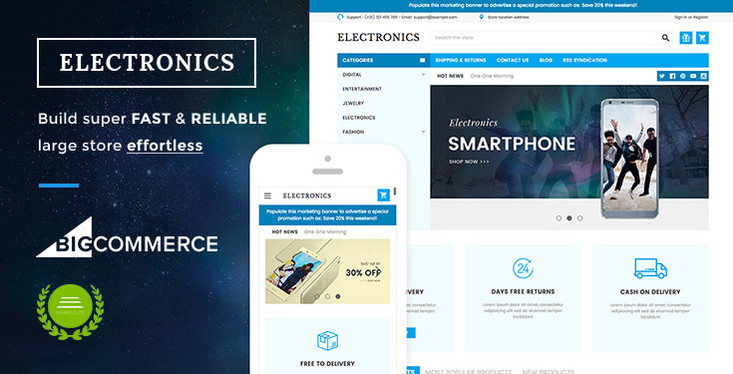 Electronics Supermarket BigCommerce Theme preview by papathemes