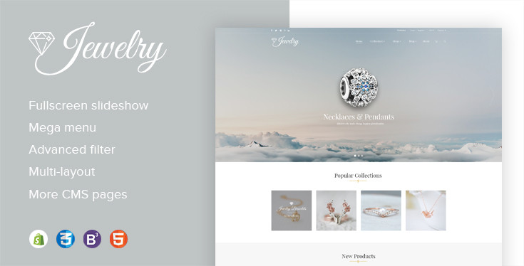 Jewelry Responsive Parallax BigCommerce Theme