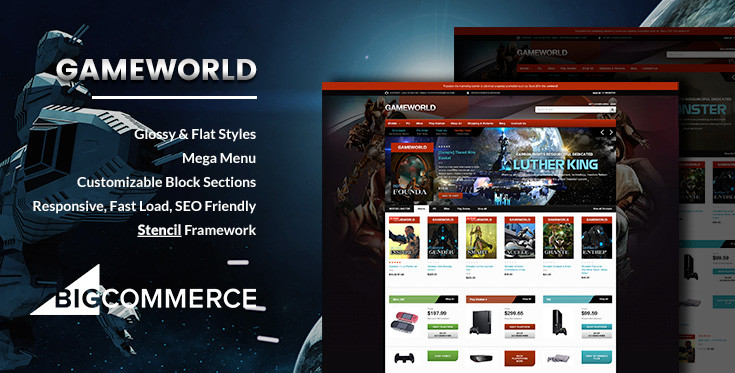 Preview of Gameworld Game Store BigCommerce Theme