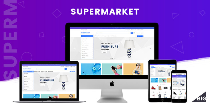 Preview of Supermarket BigCommerce Template