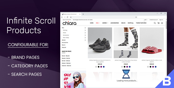 Infinite Scroll Products Loading for BigCommerce