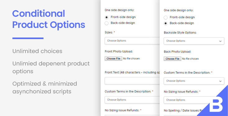 Conditional Product Options for BigCommerce