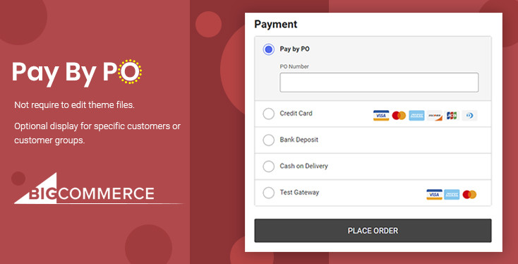 BigCommerce Pay By PO