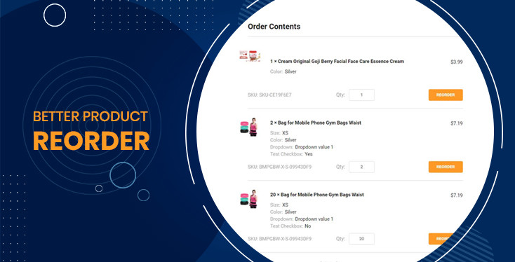 Better Products Re-Order for BigCommerce