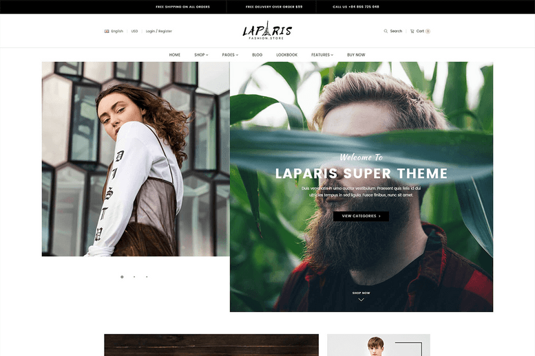 Excellent creative shopify theme for online luxury clothing store - La Paris #3