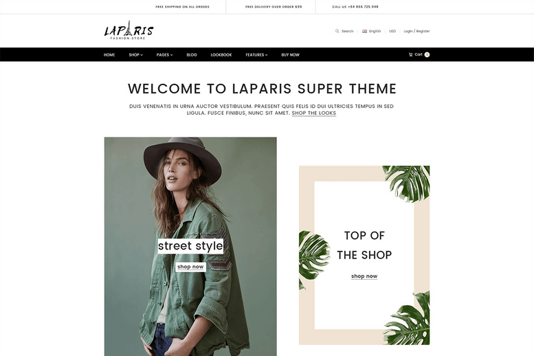 Elegant Creative Responsive Shopify Theme For Online Fashion Store - La Paris #4