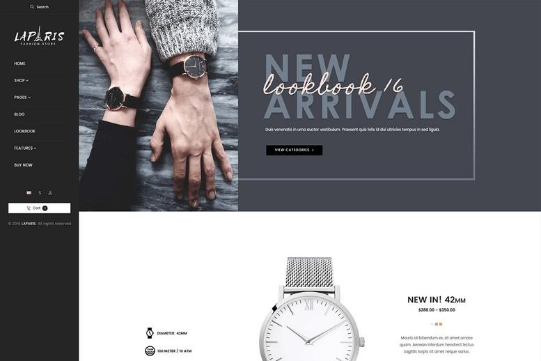 Creative Shopify Theme For Online Watches Store - La Paris #7