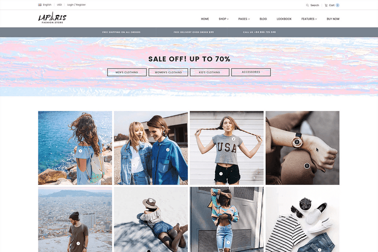 Creative Shopify Theme for Online Fashion Store - La Paris #10