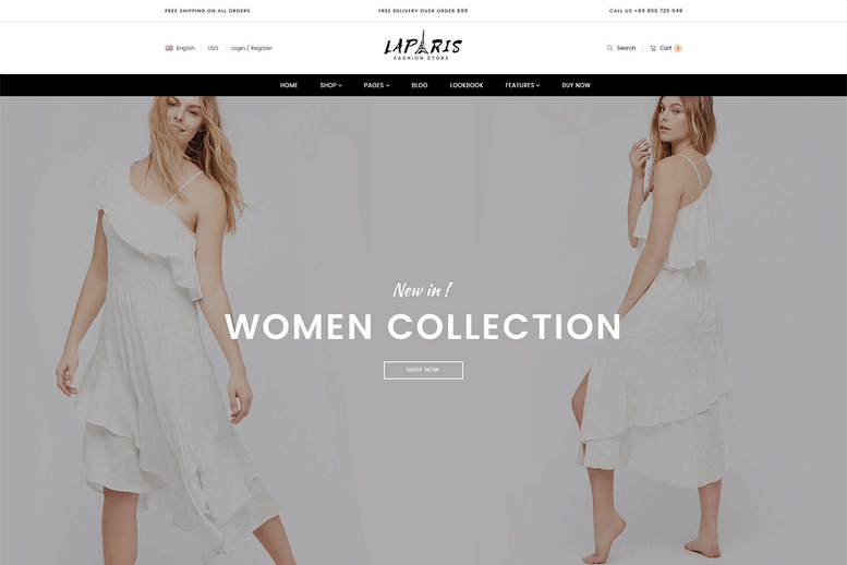 Multipurpose Sections Shopify Theme For Online Woman Clothing Store - La Paris #11