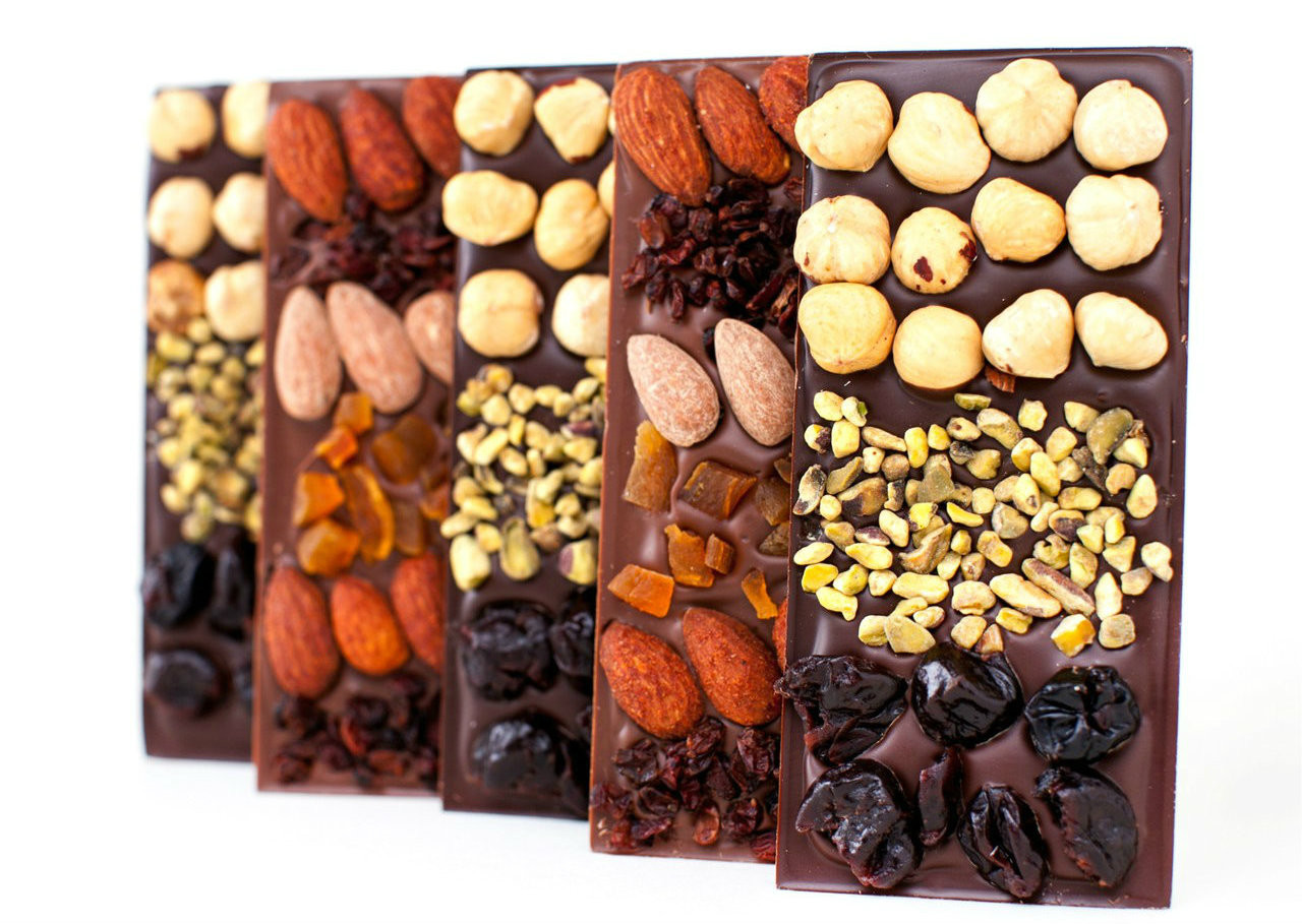 10% OFF 4 Chocolate Mendiant Bars - 2 Dark & 2 Milk