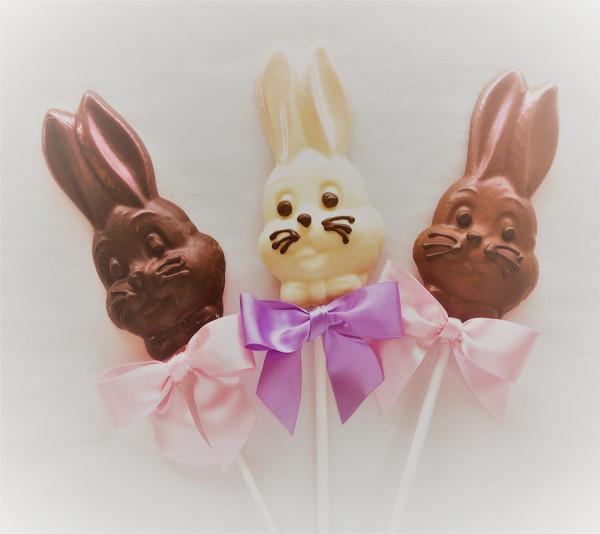 Dark/Vegan Easter Bunny Lollipop