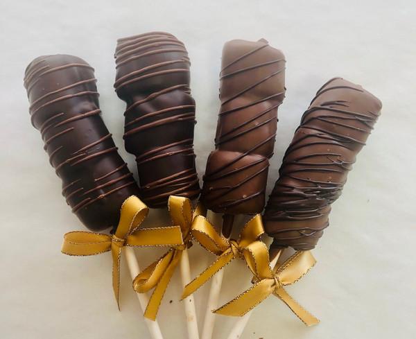Dark Chocolate Marshmallow Lollipop