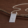Customized Medium or Long Scroll Necklace